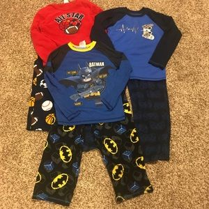 Lot of 3 boys pj sets Sz 10/12